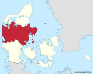 Vejkort Over Region Midtjylland Bykort Med Gader Kort Over Danmark