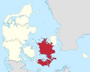 højdekort over sjælland